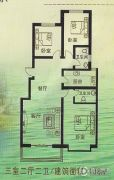 富沁园3室2厅2卫138平方米户型图