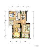 绿地国际花都2室2厅1卫0平方米户型图