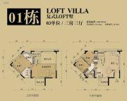 领江壹号3室3厅0卫202平方米户型图