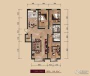 中广宜景湾・尚城3室2厅2卫156平方米户型图