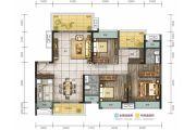 远洋珑郡3室2厅2卫118平方米户型图
