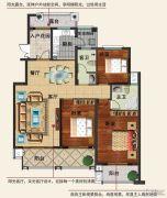 香江帝景3室2厅2卫132平方米户型图