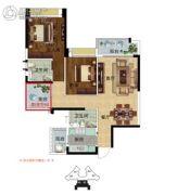 雅居乐英伦首府3室2厅2卫100平方米户型图