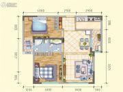 润莱金座2室2厅1卫82平方米户型图