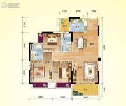 龙翔花园3室2厅2卫99平方米户型图