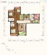 仁恒滨河湾4室2厅2卫140平方米户型图