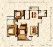 和昌・国际城3室2厅2卫130平方米户型图
