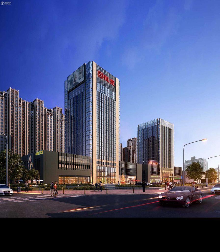 恒峰·御江山酒店南立面(2014-08)