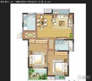 善水湾2室2厅1卫92平方米户型图