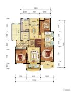 保集湖海塘庄园3室2厅2卫143平方米户型图