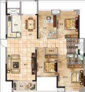 太一格4室2厅2卫134--135平方米户型图