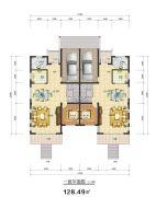 加州・中海福邸128平方米户型图