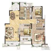 冠景瑞园3室2厅2卫136平方米户型图