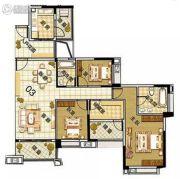 雅居乐御龙山4室2厅2卫141平方米户型图