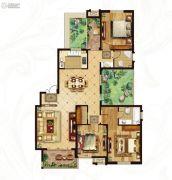 冠城大通蓝湾4室2厅2卫160平方米户型图