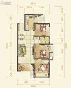 俊发星雅俊园3室2厅1卫86--116平方米户型图
