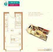 廊坊孔雀城・公园海1室1厅1卫29平方米户型图