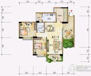 雅居乐十里花巷2室2厅1卫109平方米户型图