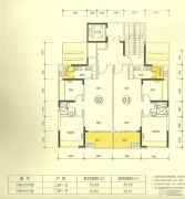 新澳城市花园2室2厅1卫80--100平方米户型图
