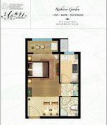 三箭・瑞景苑1室1厅1卫41平方米户型图