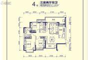恒大天府半岛3室2厅2卫121平方米户型图