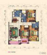 力旺康城3室2厅2卫126平方米户型图