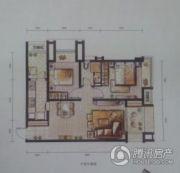 万科城2室2厅1卫66平方米户型图