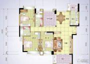 丰怡豪庭3室2厅2卫143平方米户型图
