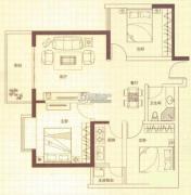 润城3室2厅1卫89平方米户型图