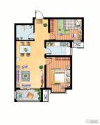 米苏阳光2室2厅1卫88平方米户型图