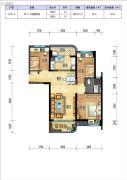 碧桂园十里银滩3室2厅1卫70--90平方米户型图