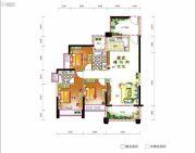 东奥苑3室2厅2卫111平方米户型图