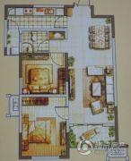 嘉亿国际2室2厅1卫88--89平方米户型图