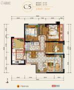 华润・中央公园3室2厅1卫73平方米户型图