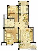 诚河新旅城2室2厅1卫86平方米户型图