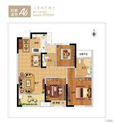 新西塘孔雀城印象澜庭3室2厅2卫0平方米户型图