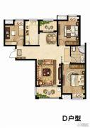 同科・汇丰国际3室2厅1卫116平方米户型图