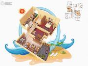 碧桂园十里银滩2室2厅1卫67--68平方米户型图