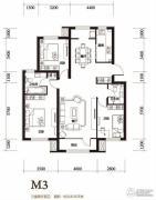 顶秀美泉小镇3室2厅1卫116平方米户型图