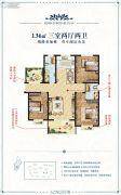 汇升・龙湖澜岸3室2厅2卫136平方米户型图