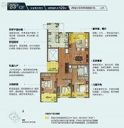 朗诗绿色街区3室2厅2卫129平方米户型图