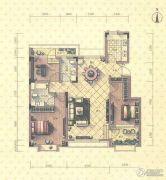 益田瓦萨小镇3室2厅2卫124平方米户型图