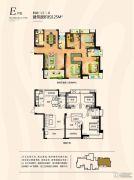 西海岸广场4室2厅2卫125平方米户型图