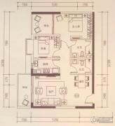 海伦国际2室2厅2卫94平方米户型图