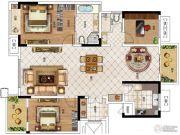 华启金悦府3室3厅2卫132平方米户型图