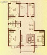水岸华府4室2厅2卫129平方米户型图