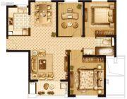 宝华北岸郡庭3室2厅2卫85平方米户型图