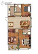 紫微台3室2厅1卫119平方米户型图