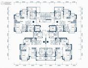 东莞恒大滨江左岸3室2厅1卫88平方米户型图