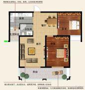 香江帝景2室2厅1卫98平方米户型图